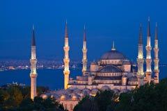 ahmed błękitny godzina iluminujący meczetowy sułtan Zdjęcia Stock