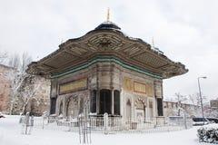 ahmed fontanna iii Istanbuł, Turcja Zdjęcia Stock