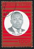 Ahmed Mangue printed by Chad. CHAD - CIRCA 1967: stamp printed by Chad, shows Ahmed Mangue, circa 1967 Royalty Free Stock Image