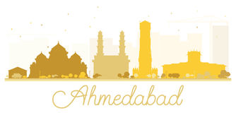 Ahmedabad City skyline golden silhouette. Stock Photography