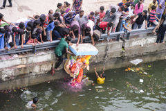Ahmedabad -The deity of prosperity ; Ganesh Chaturthi festival 2014 Stock Image