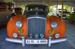 AHMEDABAD, GUJARAT, INDIA - Juni 2017, Close-up van de voorzijde van Bentley Het automuseum van de wereld uitstekende auto, Ahmed Stock Foto
