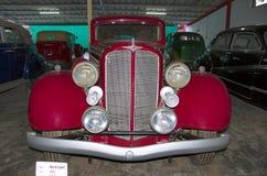 AHMEDABAD, GUJARAT, INDIA - Juni 2017, Close-up van de voorzijde van Buick Achtjaren 1935, de V.S. Het automuseum van de wereld u Royalty-vrije Stock Afbeeldingen