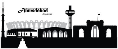 Ahmedabad, Inde Illustration de Vecteur