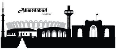Ahmedabad, India Ilustracja Wektor