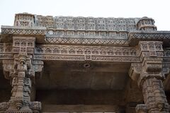 Ahmedabad / India / April 11, 2017: Detail of the entrance in the stepwell