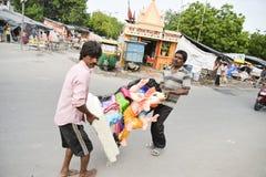 Ahmedabad: Preparação para o festival de Ganesha Charturthi Foto de Stock