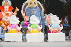Ahmedabad :Preparation for  Ganesha Charturthi Festival Royalty Free Stock Image