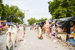 Ahmedabad :Preparation for  Ganesha Charturthi Festival Stock Photography