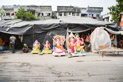 Ahmedabad :Preparation for  Ganesha Charturthi Festival Royalty Free Stock Photos