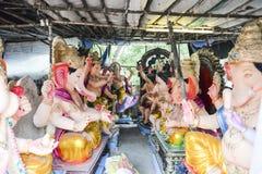 Ahmedabad: Przygotowanie dla Ganesha Charturthi festiwalu Zdjęcie Royalty Free