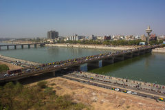 Ahmedabad ptasiego oka widok Fotografia Stock