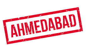 Ahmedabad rubber stamp Royalty Free Stock Image