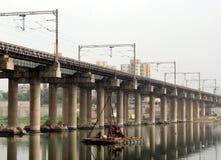 Ahmedabad-Stadt ` s Brücke Sabarmati Stockfotos