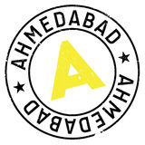 Ahmedabad stamp rubber grunge Stock Images