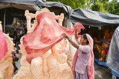 Ahmedabad: Voorbereiding voor het Festival van Ganesha Charturthi Stock Foto's