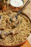 Ahmedi Biryani - Indiański naczynie zawiera mięso, ryba lub warzyw, Zdjęcie Royalty Free