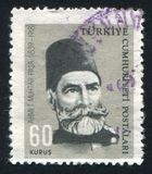 Ahmet Muhtar Pasha. TURKEY - CIRCA 1964: stamp printed by Turkey, shows Gazi Ahmet Muhtar Pasha, commander, circa 1964 Royalty Free Stock Photography