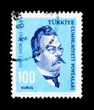 Ahmet Rasim (1863-1932),作家,个性serie,大约1964年 库存照片