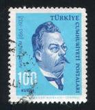 Ahmet Rasim. TURKEY - CIRCA 1964: stamp printed by Turkey, shows Ahmet Rasim, writer, circa 1964 Royalty Free Stock Photo