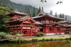 ahobyodohawaii o tempel Arkivfoto
