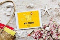 Ahora añada el concepto en línea del gráfico del comercio de la compra del carro Imágenes de archivo libres de regalías