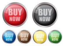 Ahora compre botones Fotografía de archivo libre de regalías