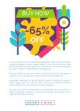 Ahora compre 65 de etiqueta de la etiqueta engomada de la venta con las ramas Libre Illustration