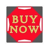 Ahora compre el botón azul Imagenes de archivo