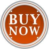 Ahora compre el botón azul Fotos de archivo