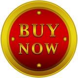 Ahora compre el botón azul Imagen de archivo