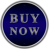 Ahora compre el botón azul Fotografía de archivo libre de regalías
