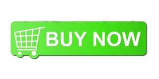 Ahora compre el verde Imagenes de archivo