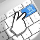 Ahora compre en línea Fotografía de archivo libre de regalías