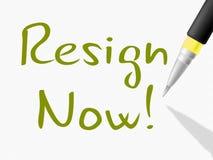 Ahora dimita los medios de la petición abandonados o la dimisión del gobierno o del presidente del trabajo stock de ilustración