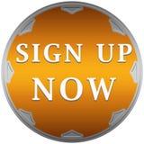Ahora firme para arriba el botón Imagen de archivo libre de regalías