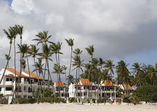 Ahora hotel inclusivo de Larimar situado en la playa de Bavaro en Punta Cana, República Dominicana Foto de archivo libre de regalías
