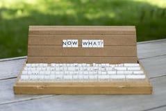 ¿Ahora qué? Imagen de archivo libre de regalías