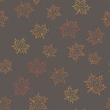 Ahornblatthintergrund Stockbild