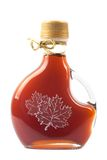 Ahornholz-Sirup-Flasche Stockbild