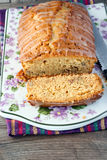 Ahornholzkuchen mit Glasur stockfoto