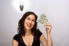 Ahorrador de dinero Imagen de archivo libre de regalías
