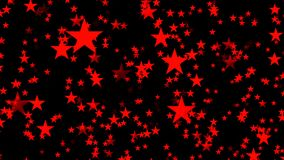 Ahorrador de pantalla de ordenador animado abstracto con las estrellas rojas almacen de video