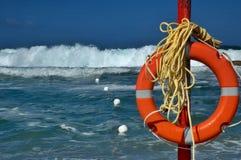 Ahorrador de vida de la playa Fotos de archivo libres de regalías