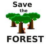 Ahorraremos el bosque de la extinción libre illustration