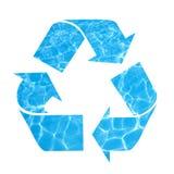 Ahorre el agua, recicle el símbolo Imágenes de archivo libres de regalías