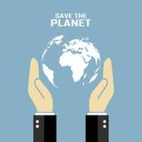 Ahorre el cartel del planeta stock de ilustración