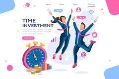 Ahorre el concepto de la economía del reloj del negocio del tiempo ilustración del vector