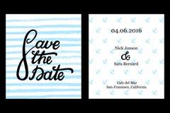 Ahorre el diseño de tarjeta de la invitación de la fecha Fotografía de archivo libre de regalías