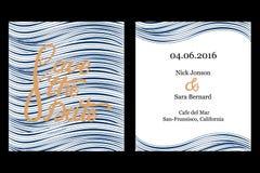 Ahorre el diseño de tarjeta de la invitación de la fecha Imagenes de archivo